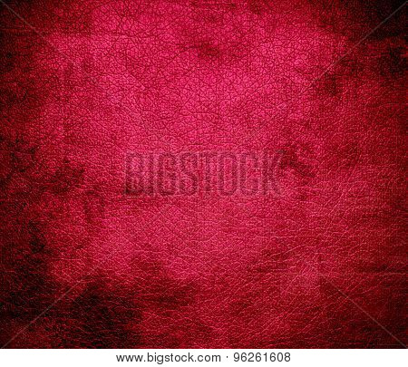 Grunge background of debian red leather texture