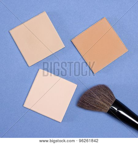 Different Shades Of Compact Cosmetic Powder