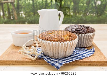 Cupcake With Tea Cup / Cupcake With Tea Background