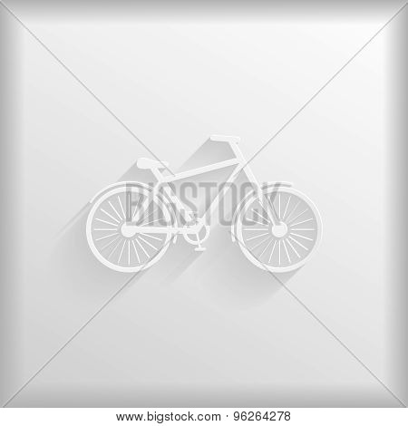 Paper Bicycle With Shadow