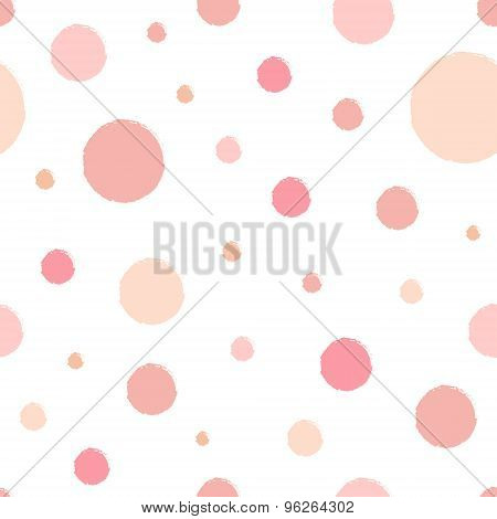 Vector Seamless Spotted Pattern.