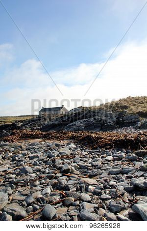 Stones On Beach On Isle Of Islay Scotland