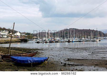 Tarbert Harbour, West Loch Tarbert, Scotland.