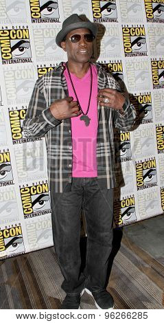SAN DIEGO, CA - JULY 9: Wesley Snipes arrives at the 2015 Comic Con press room for