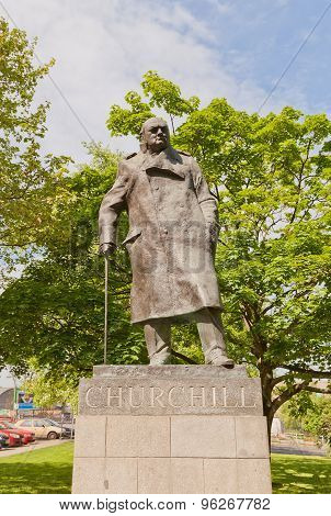 Monument To Sir Winston Churchill In Prague
