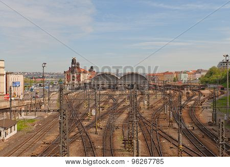 Main Railway Station Of Prague, Czech Republic