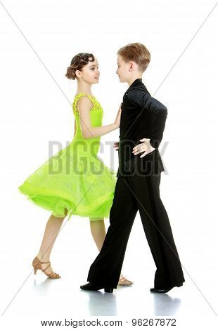 Boy and girl in beautiful suits