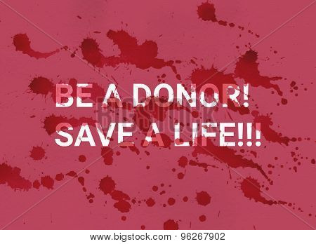 Be a donor. Save a life.