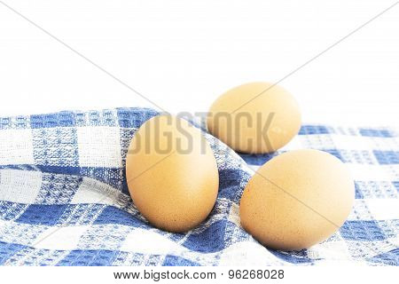 Eggs Set On Table Mat