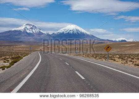 Road on the Altiplano