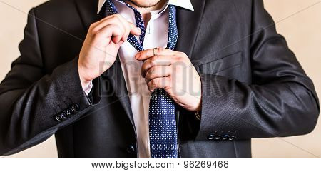 man with a tie