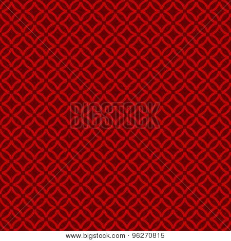 Seamless Chinese window tracery round cross line pattern background.