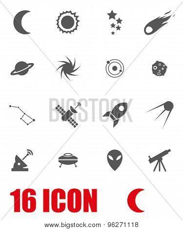 Vector grey space icon set