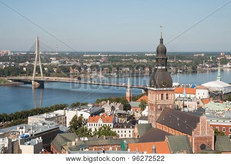 Top View Of Old Riga