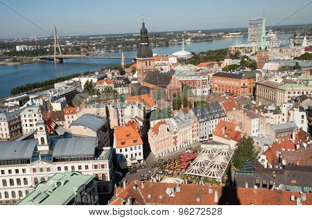 Top View Of Riga