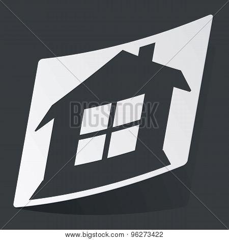 Monochrome house sticker
