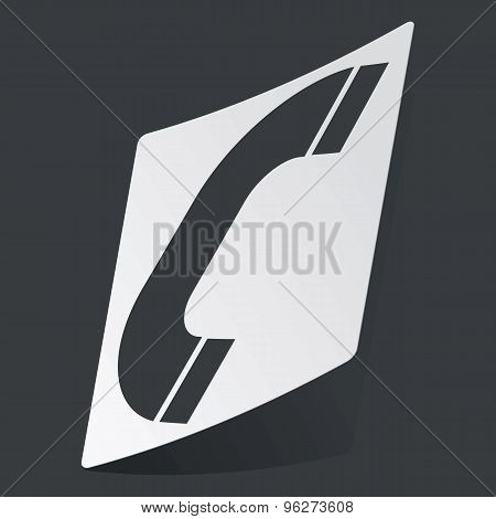Monochrome call sticker