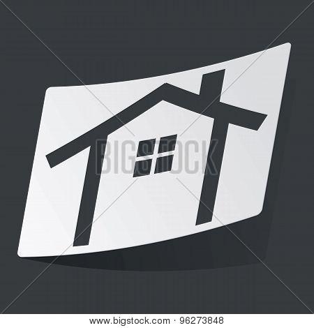 Monochrome cottage sticker