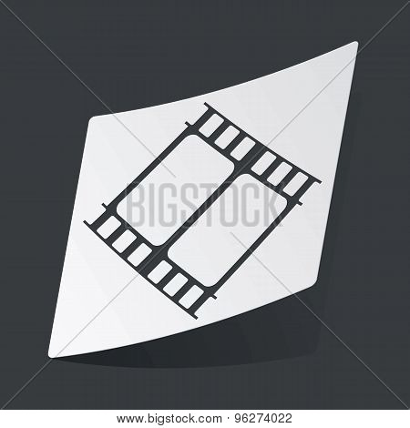 Monochrome movie sticker
