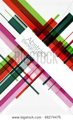 lines shape mosaic pattern design. Universal modern composition. Clean colorful mosaic tile background with copyspace. Abstract background, online presentation website element or mobile app cover