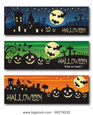 Halloween banner illustration design