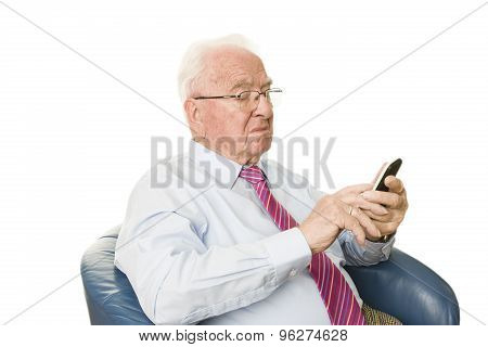 Senior With Smartphone