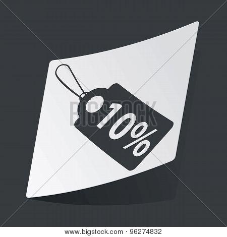 Monochrome discount sticker