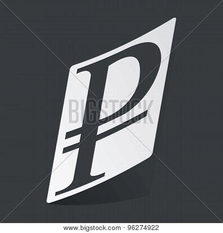 Monochrome ruble sticker