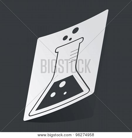 Monochrome conical flask sticker