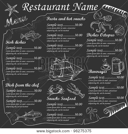 Menu Seafood restaurants