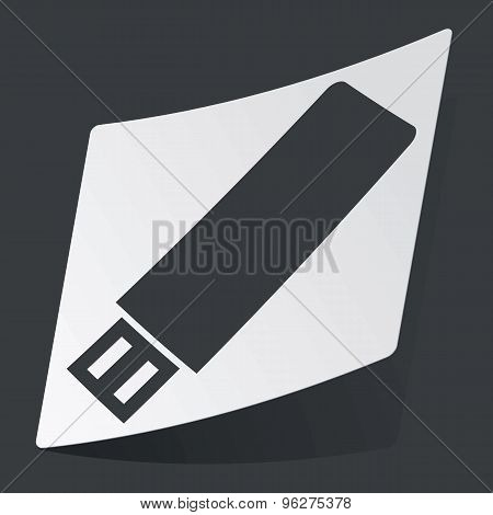 Monochrome USB stick sticker