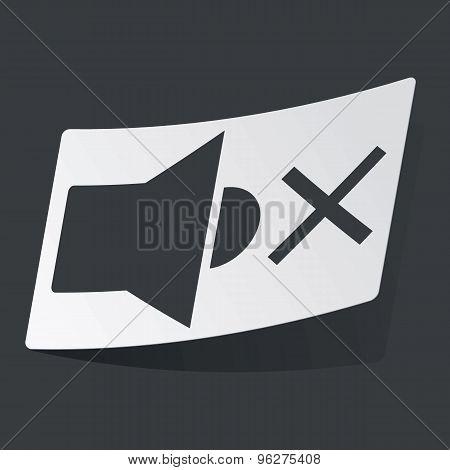 Monochrome muted sound sticker