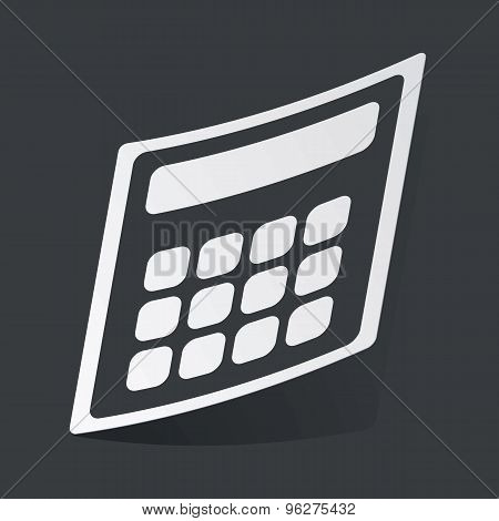 Monochrome calculator sticker