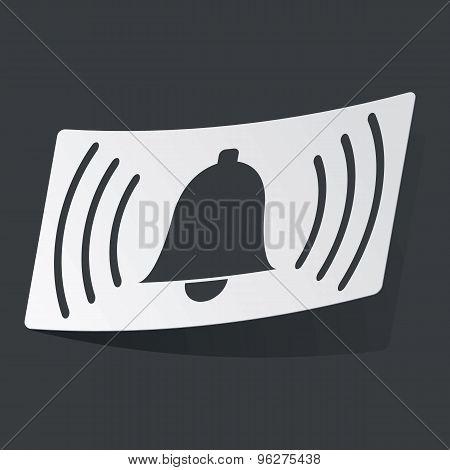 Monochrome alarm sticker