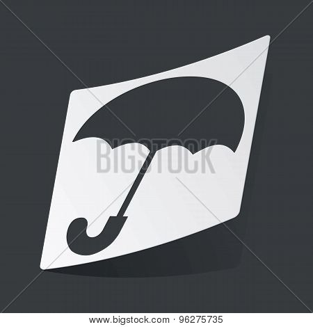 Monochrome umbrella sticker
