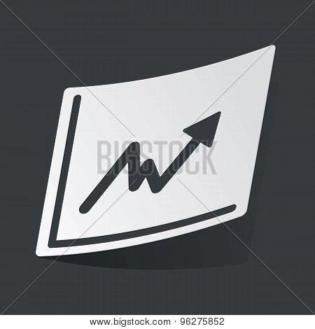 Monochrome rising graphic sticker