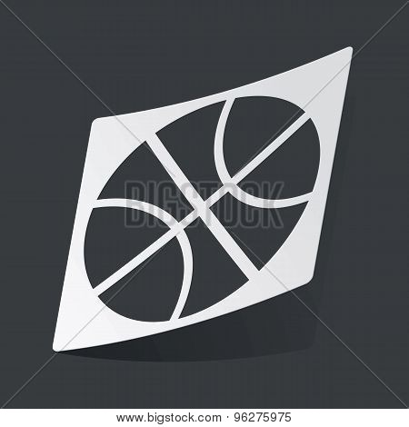 Monochrome basketball sticker