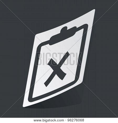 Monochrome clipboard NO sticker