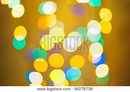 Party background. Festive abstract background with bokeh defocused lights and stars