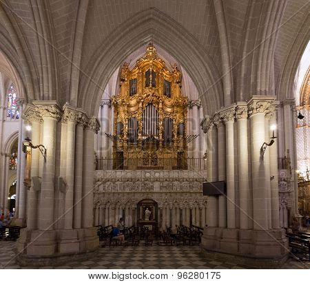 Organ Of Toledo Cathedral, Spain