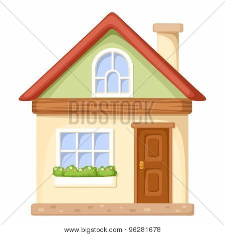 Cartoon house. Vector illustration.