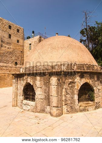 .old Buildings In A Coptic Part Of The Complex Of The Basilica Of The Holy Sepulchre In Jerusalem