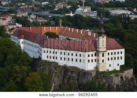 Famous Decin Castle In The Czech Republic