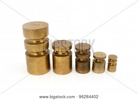 Brass Metric Weights