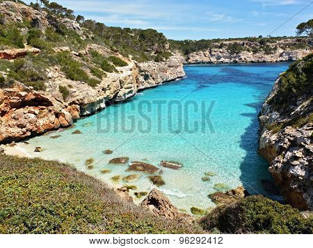 Cala Des Moro Beach At Majorca