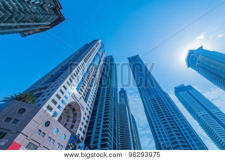 Dubai - JANUARY 10, 2015: The Marriot Hotel on January 10 in UAE, Dubai. Marriot Hotel is popular 5-star hotel.