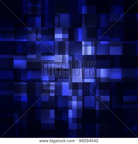 abstract blue squares on a dark background