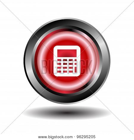 Calculator button.Vector black calculator icons set