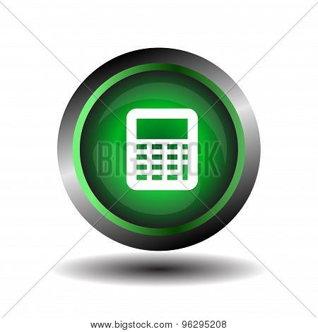 Calculator icon vector. Vector black calculator icons