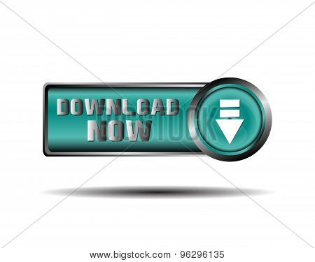 Download Now Button icondesign vector illustration template.